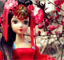 Kurhn Doll Chinese Ancient Bride Dolls Tang Dynasty Bride Toys For Girl Gift Kids Children Birthday Gift(China)