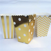 50pcs Mini Party Paper Popcorn Boxes Candy/Sanck Favor Bags Wedding Birthday Movie Party Supplies
