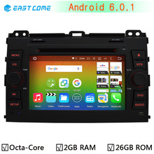 1024X600 Octa Core 2GB RAM 32GB ROM Android 6.0.1 Car DVD Player For Toyota Land Cruiser Prado 120 2002-2009 GPS Radio Stereo(China)