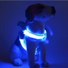 XS/S/M/L LED Flashing Light Dog Harness attractive Halloween Party Pet Puppy Harness Collar Lead Leash for Small Medium Dogs(China)
