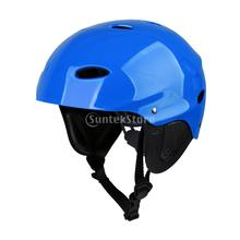 Adult Kids Water Sports Safety Helmet Kayak Canoe Boat Sailing Surf SUP Paddle Board Wakeboard Rescue Hard Cap CE Approved M/L(China)
