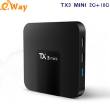 DHL Ship TX3 MINI Amlogic S905W Android 7.1 TV BOX 2GB 16GB WIFI 4K H.265 USB2.0 Support TF Card Reader Smart TV Media Player(China)