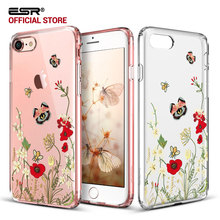 Case for iPhone 8/8 Plus,ESR Hard PC Back Shell Skin Cover with Printed Pattern+Soft TPU Bumper Edge for iPhone8/7/7 Plus/8Plus(China)