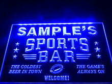 DZ070- Name Personalized Custom Sports Bar Beer Pub Neon Sign hang sign home decor crafts(China)