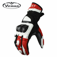 Motorcycle windproof gloves winter and summer four seasons leather wrestling motorcycle riding knight gloves leather(China)
