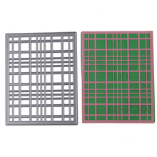 102*130mm lattice frame Customized New scrapbooking DIY Carbon Sharp Metal steel cutting die Book photo album art card Dies Cut(China)