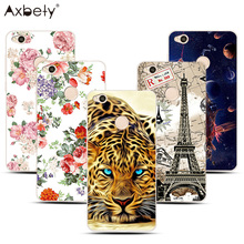"Soft Case For Xiaomi Redmi 4X Case Silicon TPU Case Fashion Lion Flower Pattern Cover Coque For Redmi 4x 5.0""Case Capa fundas(China)"