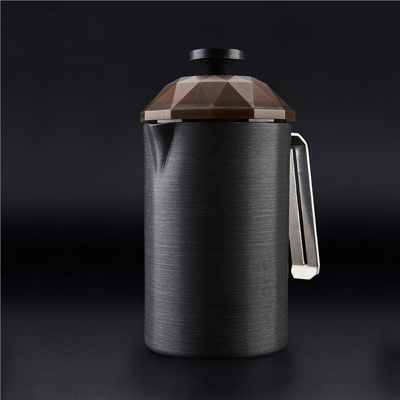 New outdoor camping coffee pot coffee cup French filter coffee pot teapot household portable law press hand coffee maker<br>