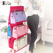 Six grid foldable dust-proof bags organizer storage bag can be used in wardrobe wall save space protect the bag(China)