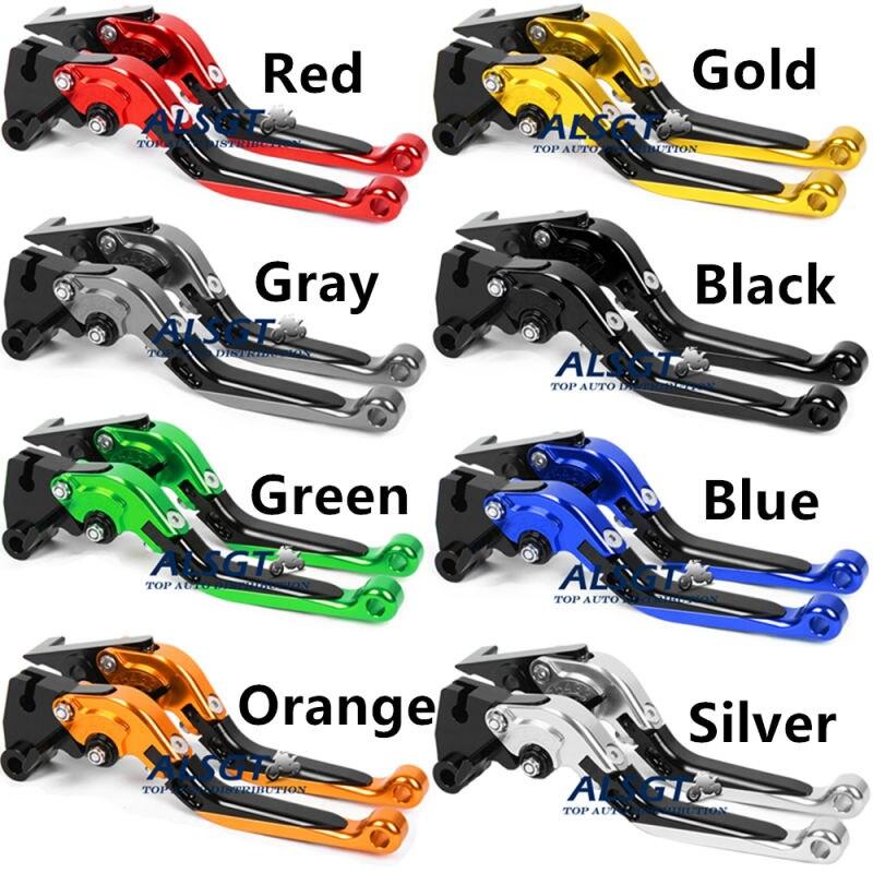 For Triumph Scrambler2006-2016 2007 2015 / Tiger 800/XC2011 2012 2013 2014 Motor Folding Extendable Clutch Brake Levers A Pair<br>