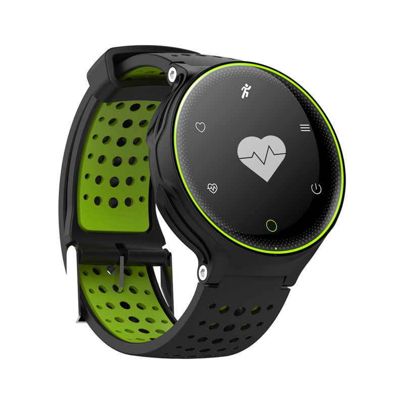 2017 Interpad New Blood Pressure Smart Watch Blood Oxygen Smartwatch Support Pedometer Heart Rate Monitor With 180 Days Standby
