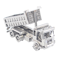 3D Metal Puzzle self-dump truck 3d laser cutting puzzle toy Logical Metal Machine Gun Armed Truck Best Gifts For Kids Educationa(China)