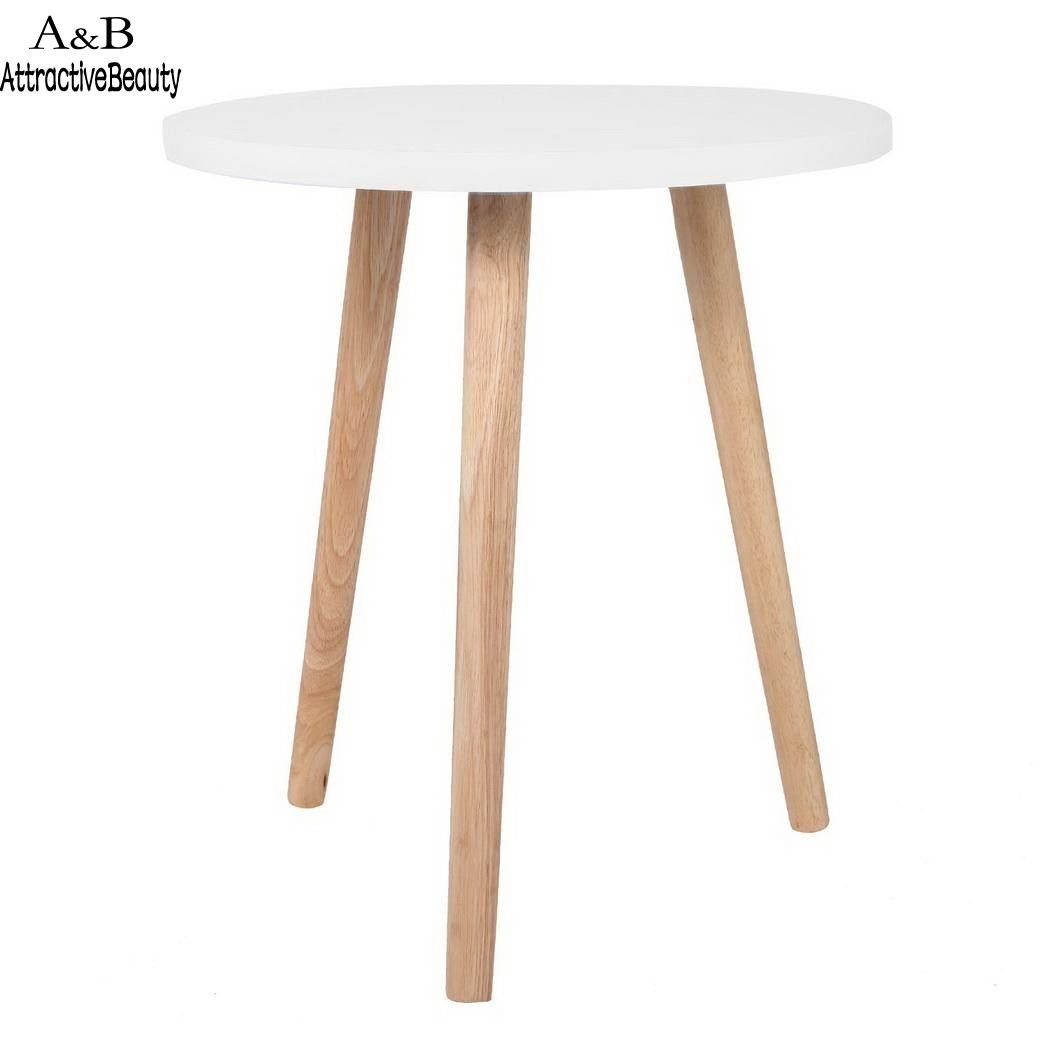 Homdox Round Side Table Coffee Tea Table Living Room Balcony Table N40*<br>