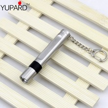 YUPARD mini Torch Light Q5 LED Flashlight  Stainless Shell  10440/1*AAA battery  Rechargeable waterproof 3-Mode outdoor sport