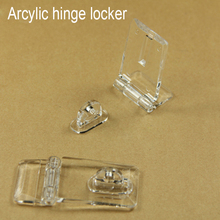 Arcylic door hinge locker hasp lock clear handle show exhibition cabinet cupboard electronic jewel advertise clear Drawer(China)