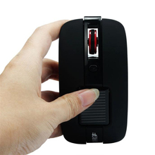 Solar Mini 2.4GHz Wireless Optical Gaming Mouse Mice For PC Laptop BK_KXL0726(China)