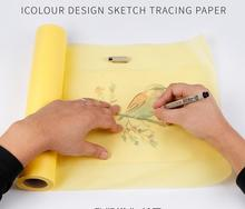ICOLOUR 12 inch Technical Paper Sketch paper Tracing Paper Sketches Preliminary Translucent Craft Copying Calligraphy Drawing(China)