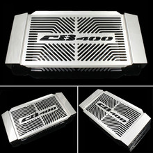 Motorcycle Stainless Steel Radiator Grille Guard Cover For HONDA CB400 1992-1998 CB400 VTEC 1999-2012 Free Shipping(China)