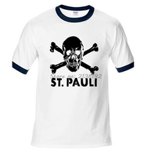 ST PAULI Man T-Shirt Raglan Sleeve Skate Clothes Streetwear T Shirt Men New Funny Homme Brand Clothing High Quality Male t