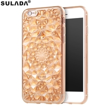 SULADA for iPhone 6 s Plus Phone Case Glittery 3D Diamond Pattern TPU Case Cell Phone Accessory for iPhone 6s Plus / 6 Plus(China)