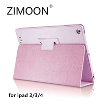 Zimoon For Apple iPad 2 3 4 Case Magnetic Auto Wake Up Sleep Flip PU Leather Cover With Smart Stand Holder Folio Case(China)