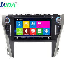 LJDA Car GPS Navigation for Toyota Camry 2015 Car DVD Radio Stereo Multimedia Player Car audio Auto Radio wince 8.0 800*480 MAP(China)