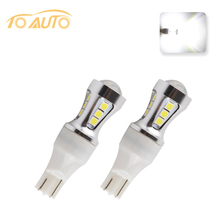 2 pcs T15  Canbus OBC Error Free Bulbs Interior Emitter LED 921 912 W16W Car lamps  Auto Lights 18 SMD 3030 Xenon White