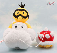 "New 14"" Super Mario Bros Lakitu Spiny Cloud Plush Doll Babay kids Toys Gift"