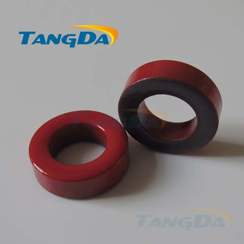 Tangda Iron powder cores T400-2D OD*ID*HT 102*57*33.5 mm 36nH/N2 10uo Iron dust core Ferrite Toroid Core Coating Red gray<br>
