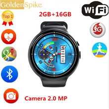2017 New I4 AIR Smart Watch 16GB Memory Wristwatch Support WIFI 3G GPS Heart Rate Monitor Google Play Wrist 2.0 MP  Smartwatch