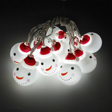 10LED children room night light snowman lights string Christmas tree decoration pendant ins explosion festive gift