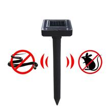 LumiParty Outdoor Solar Powered Ultrasonic Repel Mice Rats Snakes Sonic Repeller for Garden Yard Lawn Farm