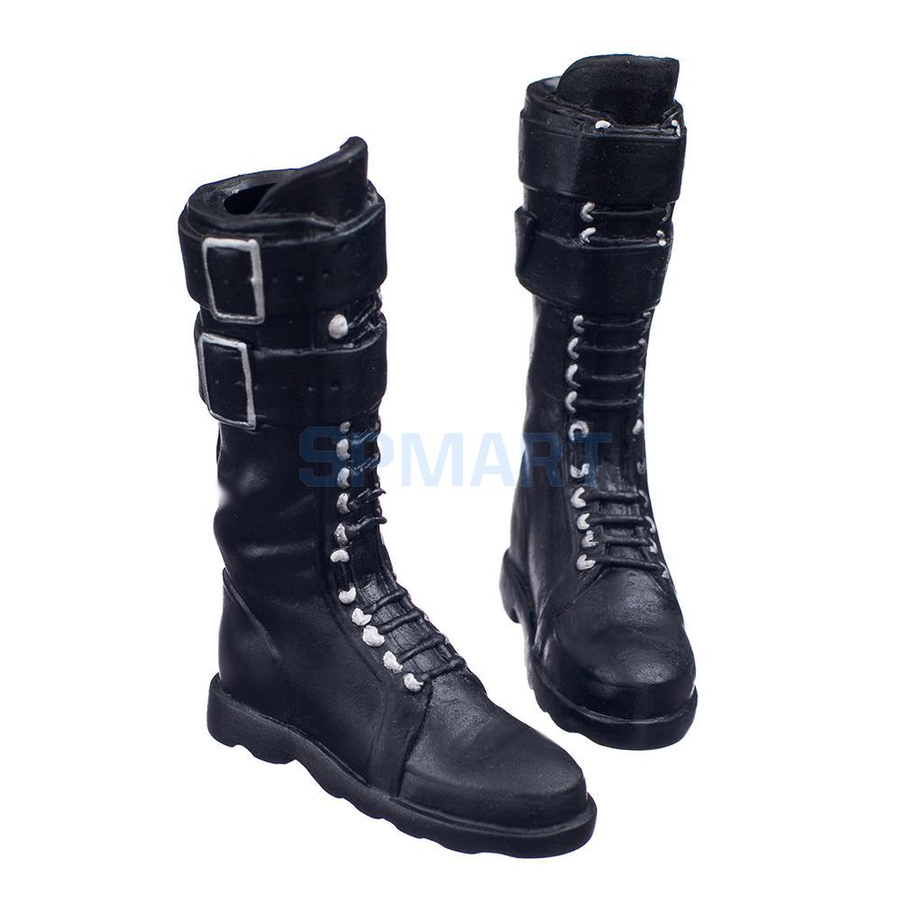 KUMIK 1//6 Scale Black Shoes Boots FS-36 F 12/'/' Female Action Figure Body
