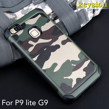 Case for Huawei P9 lite  2 in1 Army Camo Camouflage Pattern PC+TPU Armor Anti-knock Protective Back Cover For Huawei G9 Lite 5.2