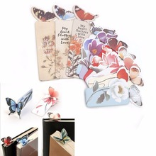 Creative Butterfly Bookmarks Cartoon Book Marks Paper Clip Office School Gift