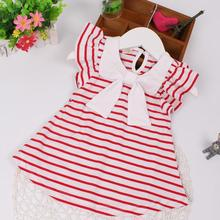 Baby Dresses 2017 New Arrival Summer Kids Baby Girls Dress Casual Stripe Baby Girl Clothes for Newborns Retail Vestido De Bebe(China)