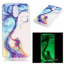 New Fashion Luminous night Slim phone Cases for Motorola Moto G4 Play Fluorescence Soft TPU Silicon Gel back cover skin