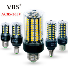 High Lumens No Flicker 5736 SMD E27 E14 3.5W 5W 7W 8W 12W 15W LED Corn Bulb light 85V-265V Constant Current 28-156LEDs lamp(China)