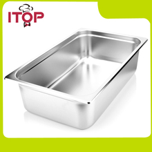 6pcs/lot 1/1 304 stainless steel pans malatang food square pots buffet bain marie(China)