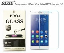 SIJIE Tempered Glass For HUAWEI honor 6P 0.26mm Screen Protector front stronger 9H hardness thin discount with Retail Package
