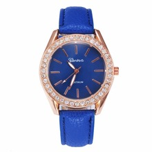 100pcs/lot Cheap!In Stock GENEVA Leather Watch Gold Case Quartz Crystal Watch Fashion wrap quartz casual wristwatch wholesale