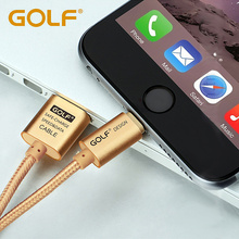 GOLF 2.1A Charger For iPhone 5 5S 6 6S Plus iPad 4 mini 2 Air 2 Charging Cable Transmit Wire 25cm 2M 3 Meters(China)
