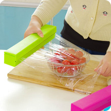 Candy Colors Plastic Wrap Cutter Cutting Foil or Cling Wrap Kitchen Accessories Free Shipping 5ZCF197