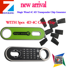 Promotion Magic Wand 4C4D Transponder Chip Generator  PLUS 5PCS 4D 4C Copy Chip with Small Capacity WORK WITHF100 key programmer