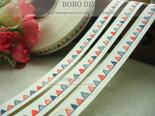 Min.order is $5 (mix order)FREE SHIPPING, Zakka cotton label,1.5CM width, colorful hills label,BOBO DIY accessory,F001#-3(China)