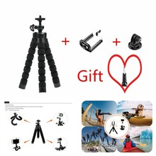 LoogDoo for GoPro Accessories Flexible Mini Octopus Tripod +Screw for Go pro Hero 5 4 3+ for xiaomi for yi 4K for SJ4000 LD06