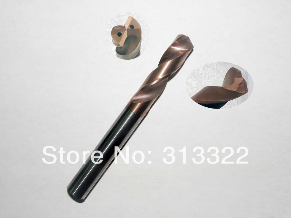 7.8mm (7.8D*60L) Micro grain solid Tungsten carbide CNC Internal Cooling Drill Bits HRC50,Carbide Drill bits For Metal working<br>