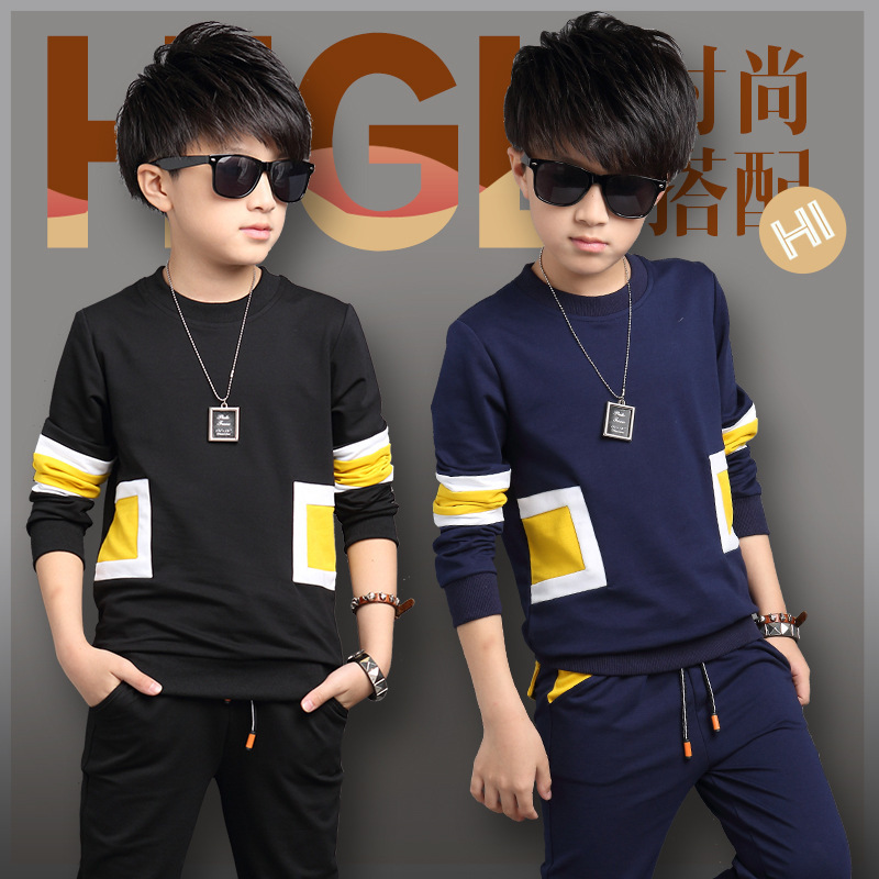 Childrens sport suit, combat color set head, suitable for childrens clothes at the age of 13<br><br>Aliexpress