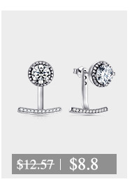 50% off Women Stud Earrings 925 Sterling Silver AAAAA Level Zircon Jewelry White Crystal Earring Gife for women Brincos De Prata