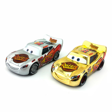 Disney Pixar Cars Gold Silver No.95 Lightning McQueen 1:55 Diecast Metal Toy Car Boys Girls Kids Birthday Christmas Gift New(China)